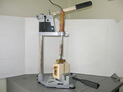 簡易バイス付属の押印機